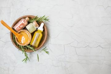 Fototapeta Natural organic spa ingredients, natural beauty treatments obraz