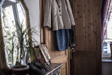 Clothes on the door