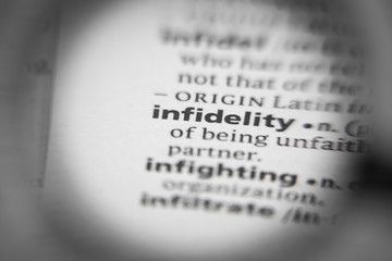 Word or phrase infidelity in a dictionary.