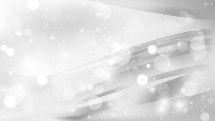 Abstract White Blurry Lights Background Vector