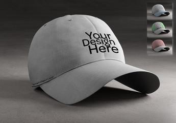 Baseball Cap Print Design Mockup