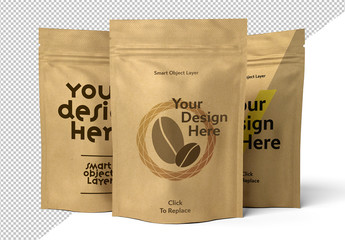 Pouch Packaging Design Mockup