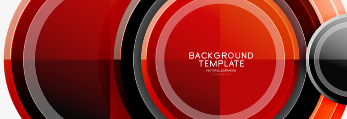 Circle geometric abstract background template for web banner, business presentation, branding, wallpaper Wall mural