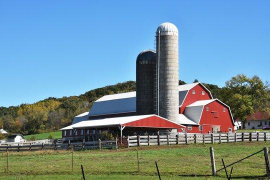 Farm Buildings on a Clear Day