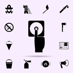 fire button icon. Fireman icons universal set for web and mobile