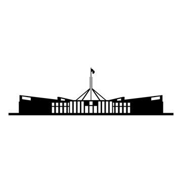 australian parliament house silhouette