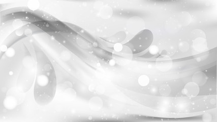 Abstract White Defocused Background Vector