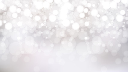 Abstract White Bokeh Lights Background Graphic