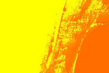 Fotobehang Vlinders in Grunge yellow orange paint brush strokes background