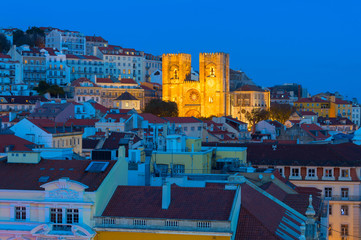 Fotomurales -  Lisbon Cathedral twilight church Portugal