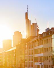 Fototapete - Sunset Frankfurt old town, Germany