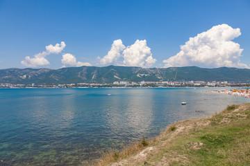 sea coast and blue sky