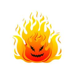 Big fire cheerful monster high hot flames