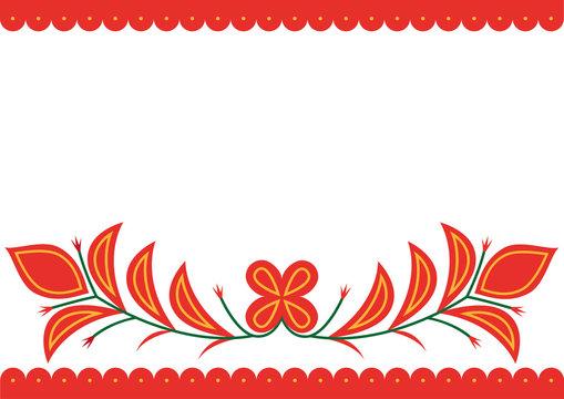 Vector image of folk embroidery from Spisska Nova Ves area