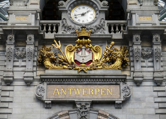 Foto op Textielframe Antwerpen Central Station, Antwerpen
