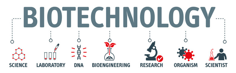 Modern icons set of biotechnology concept