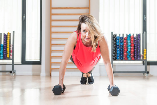 Woman practicing fitness