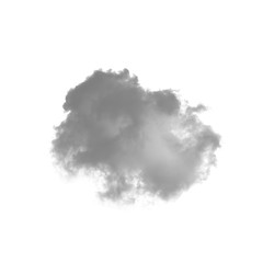 Cloud isolated on a white background for making brushes in Photoshop monochrome image