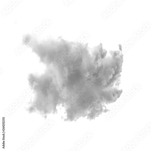 Light smoke isolated on a white background for making brushes in