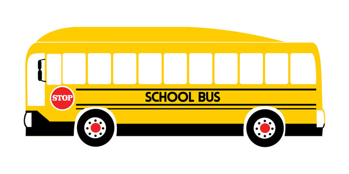 school bus yellow illustration vector