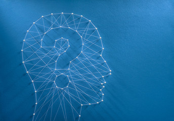 Human mind enigma concept