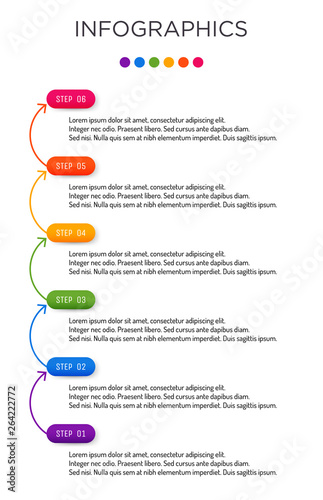 Full-color business label Infographic template