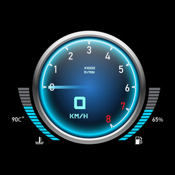 Auto speedometer or car tachometer. Motorcycle