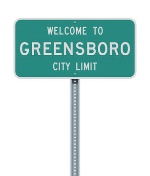 Welcome to Greensboro City Limit road sign