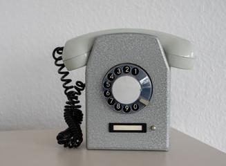 GDR INDUSTRIAL ROTARY DIAL WALL-PHONE  =R=F=T= / VEB Apparatebau Caputh (1961) Wall mural