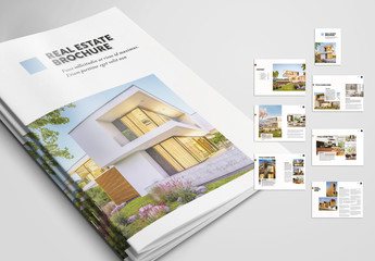 Real Estate Brochure with Pink and Grey Accents