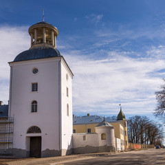 Wall Mural - View to Krustpils medieval castle from the street with nobody in the scene. Latvia.