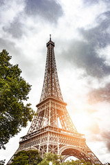 Eiffel Tower. The Eiffel Tower is the most popular tourist spot in Paris, France.