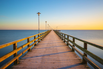 Pier of Ahlbeck on Usedom