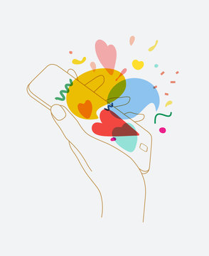 Hand phone love messages