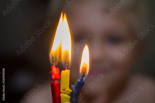 Used Birthday Candles Brought So Much Joy The Child Asked To Relight Them And His Face Is Blurred In Background
