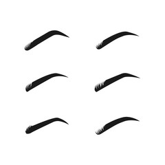 eyebrow  logo icon design template vector