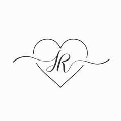 Letter SR Bohemian logo design