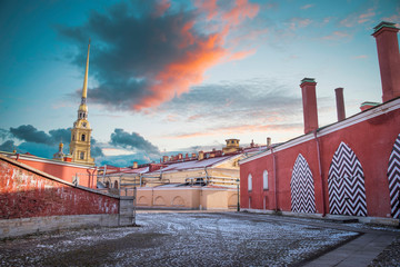 Peter and Paul Fortress in St. Petersburg Fototapete