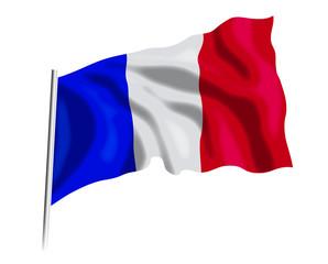 Fototapeta flaga Francji