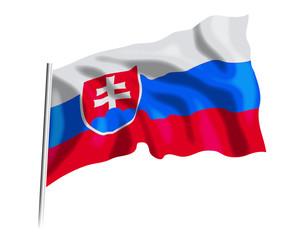 Fototapeta flaga Słowacji obraz