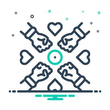 Mix line icon for inclusion tolerance