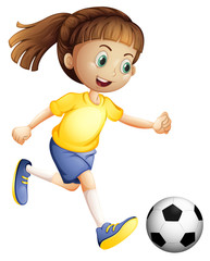 A female football character