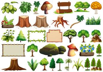 Set of nature element