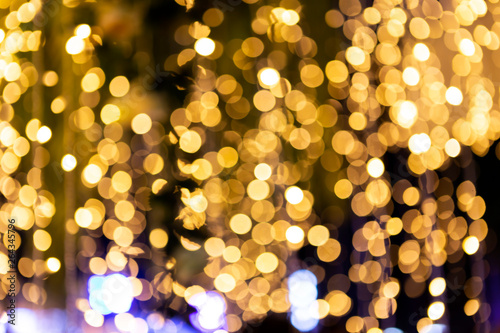 Abstract blurred night light bokeh background, party concept