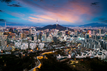 Wall Mural - Seoul City Skyline