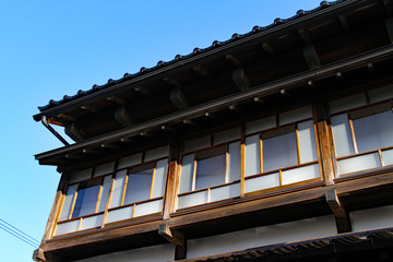 old japanese wooden house