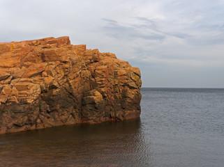 Felsen an der Westküste in Schweden.