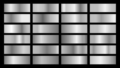 Vector silver set of gradients