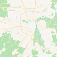 Weimar, Germany printable map