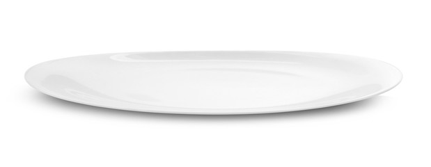 empty white plate isolated on white background. Wall mural